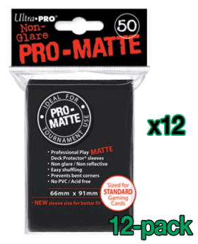 Bulk Ultra Pro Pro-Matte Card Sleeves - Standard - Black