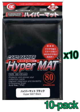 Bulk KMC Hyper Mat Card Sleeves - Standard - Black
